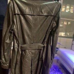 Burberry leather coat .
